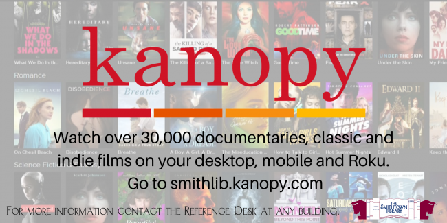 The Library now has kanopy!