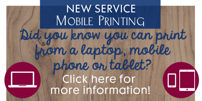 New Service!  Mobile Printing